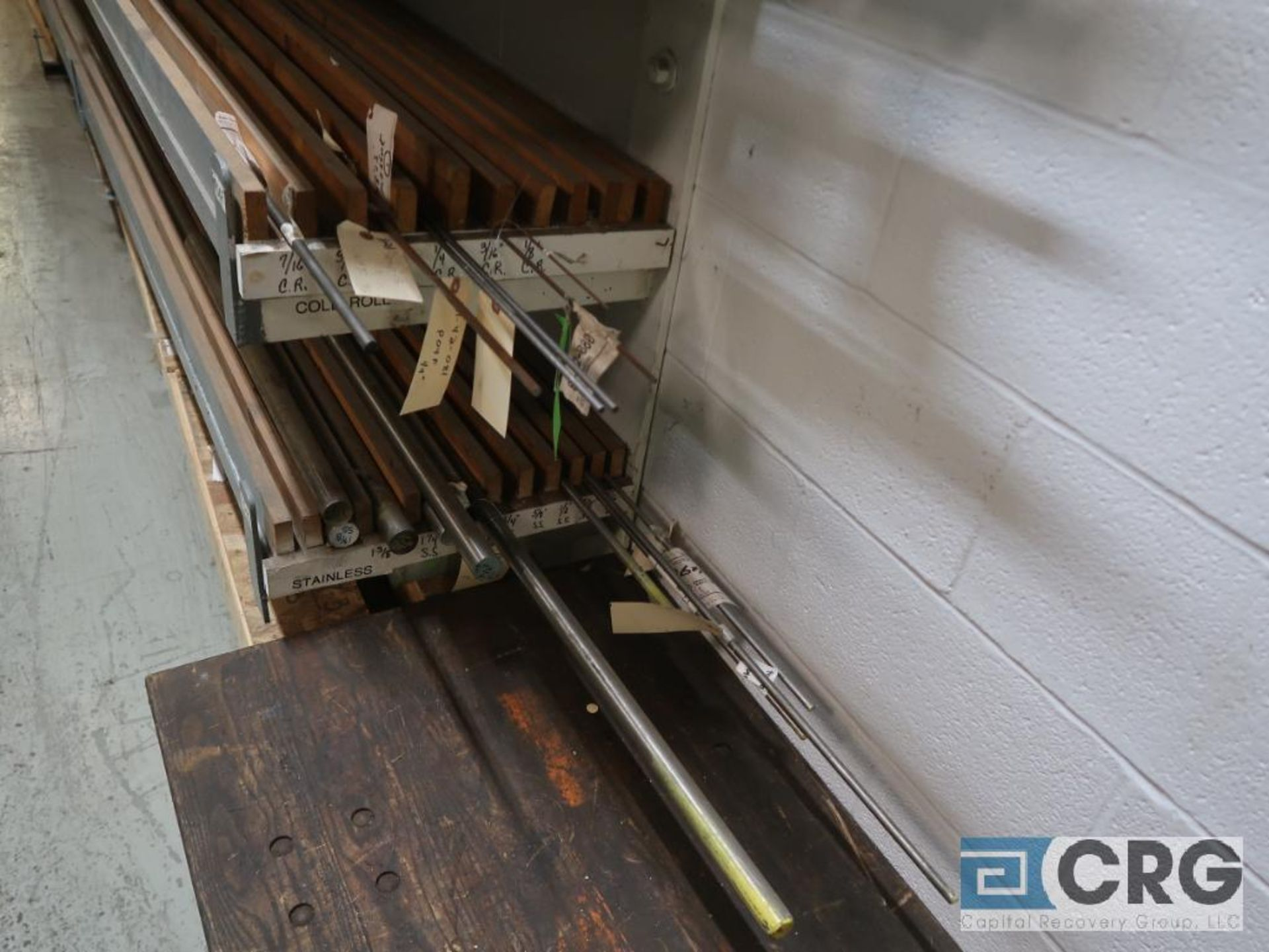 Wall mount rack with cold roll shaft, stainless tubing, key steel, and conduit pipe (Store - Image 5 of 7