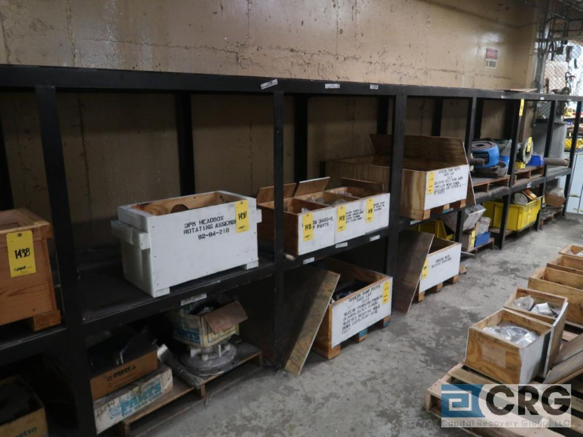 Lot of (8) sections shop built rack including (1) 90 in. L x 36 in. W x 76 in. H, (1) 16 ft. L x - Image 4 of 4