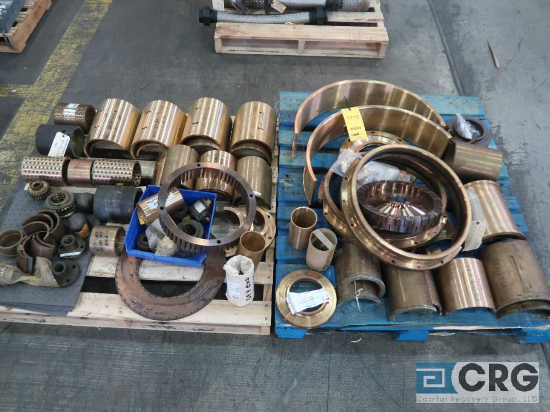 Lot of (2) pallets of bronze/brass flanges and sleeves (Finish Building)