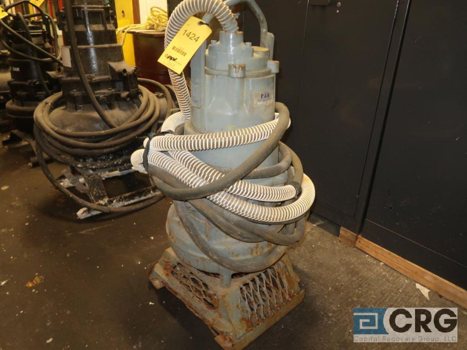 Flygt 6 in. sump pump, 460 volt, s/n 5093 (Basement Stores)