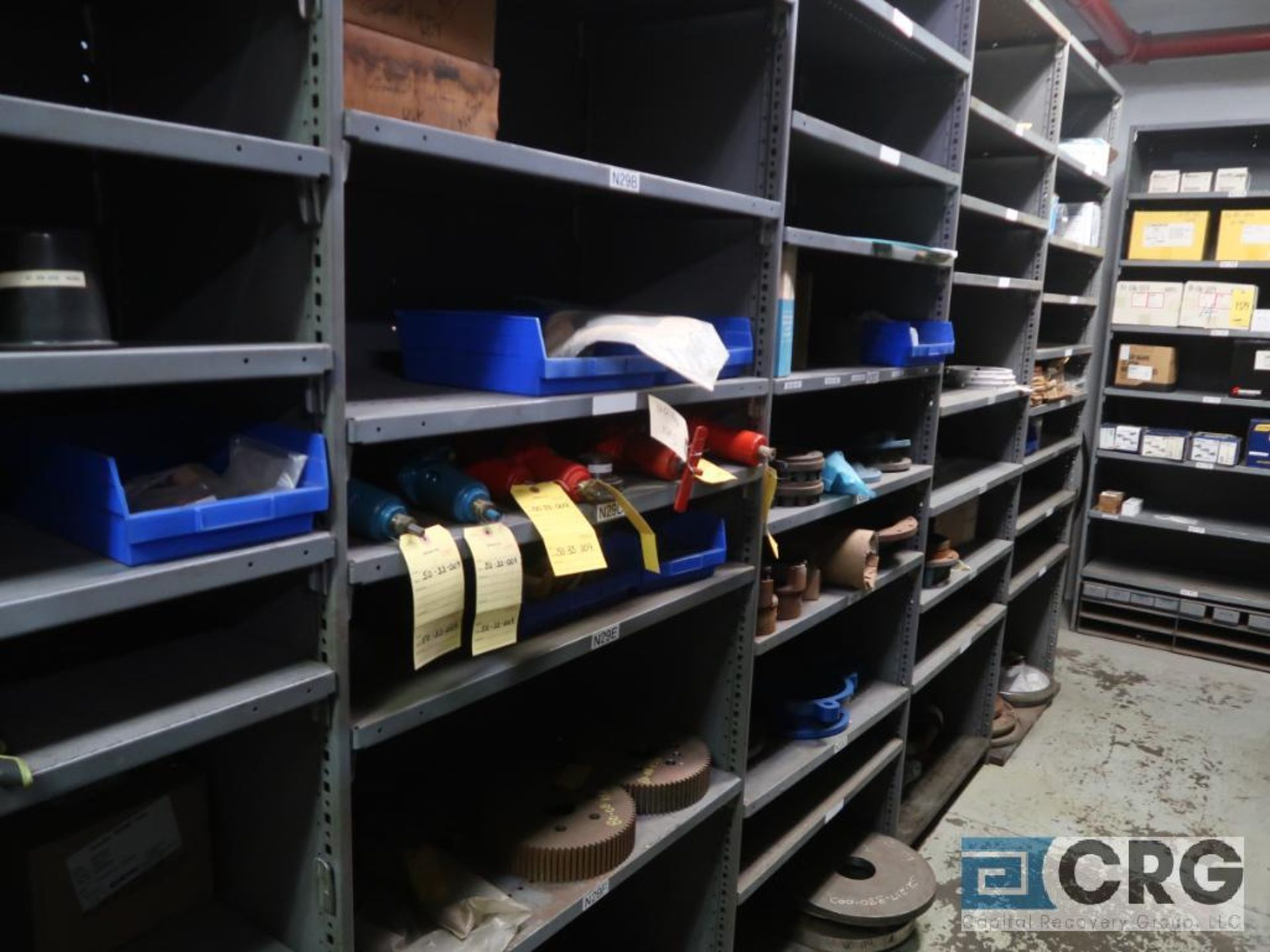 Lot of (16) sections with assorted pumpparts including gaskets, rupture discs, valves, and drives- - Image 3 of 8