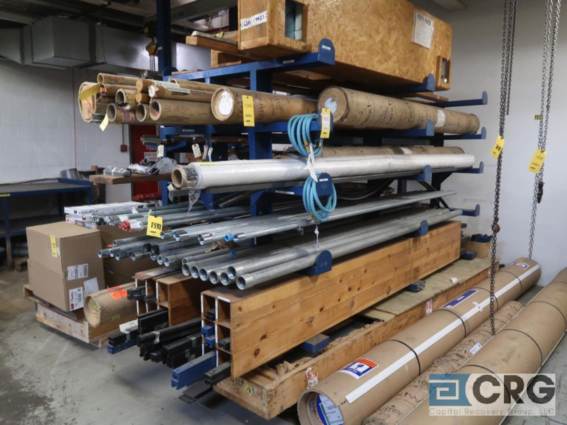 Lot of miscellaneous racking including (1) shop built cantilever rack, 7 ft. H x 10 ft. L x 54 in.