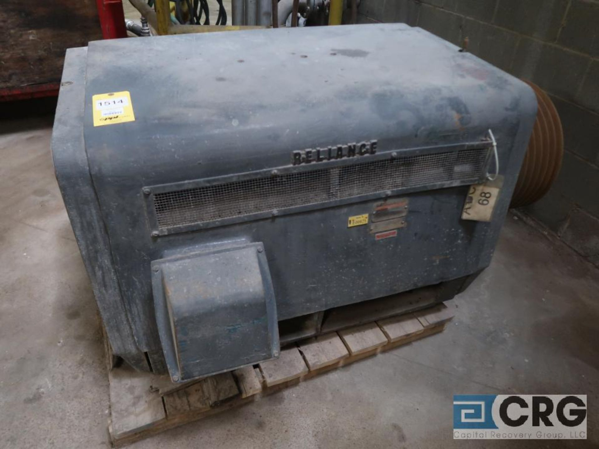 Reliance motor, 400 HP, 1,185 RPM, 2,600 volt, equipment #E00825 (496 Dock Area)