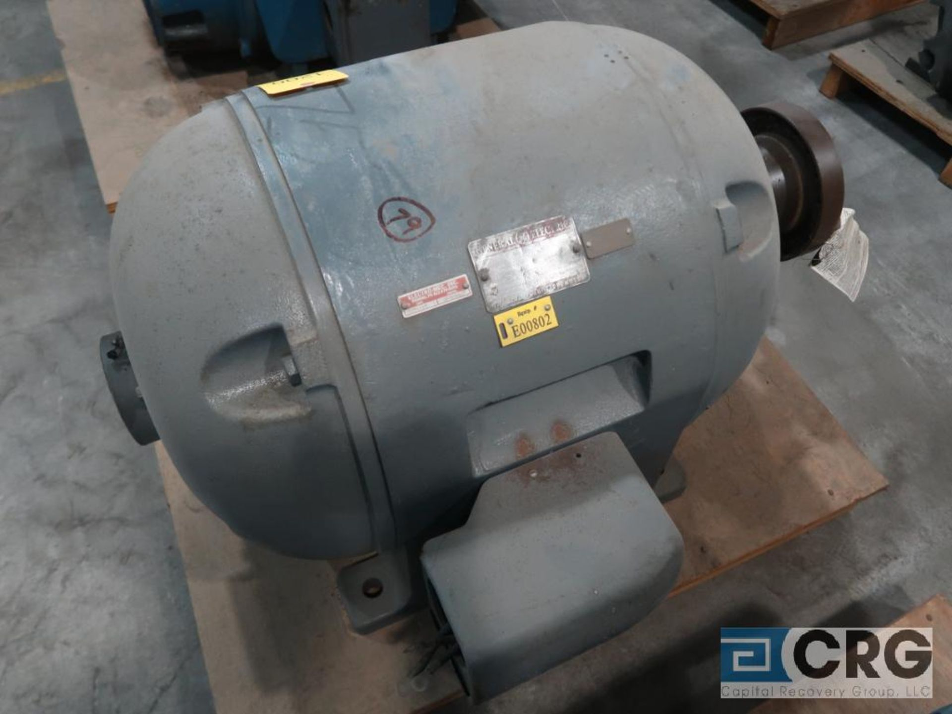 General Electric induction motor, 75 HP, 1,765 RPMS, 220/440 volt, 3 ph., 445S frame (Finish