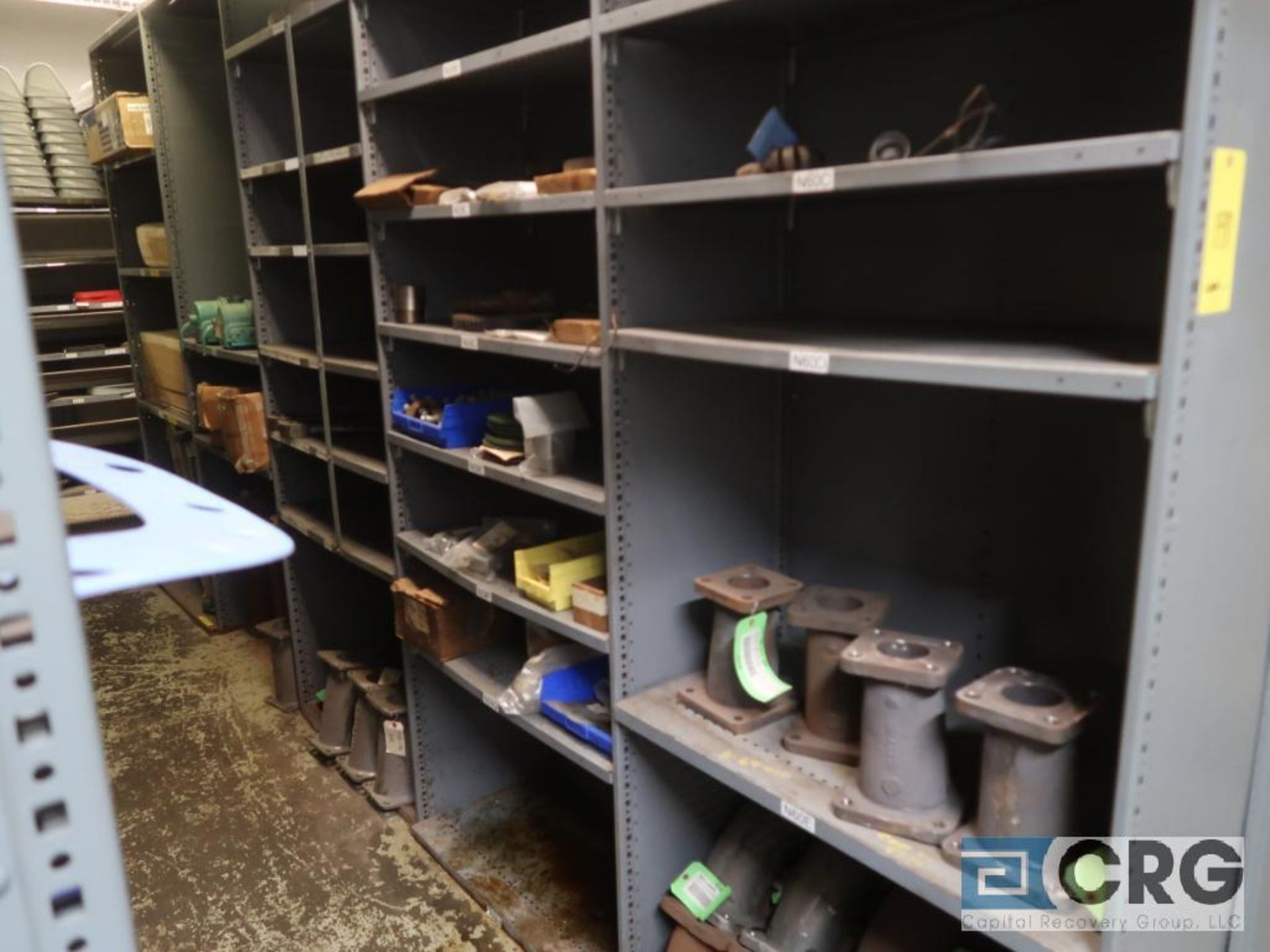 Lot of (35) sections with assorted parts including gaskets, fittings, shaft pins, gears, and - Image 9 of 17