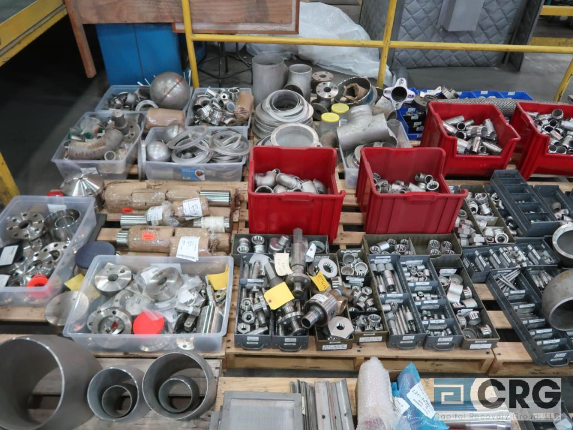 Lot of (14) pallets of stainless fittings, clamsps, couplers, and flanges (Finish Building) - Image 3 of 5