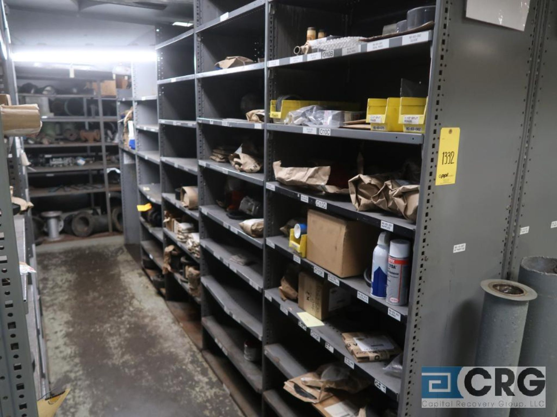 Lot of (30) sections with assorted parts including gears, chain, walves, packing, gaskets, and - Image 3 of 9