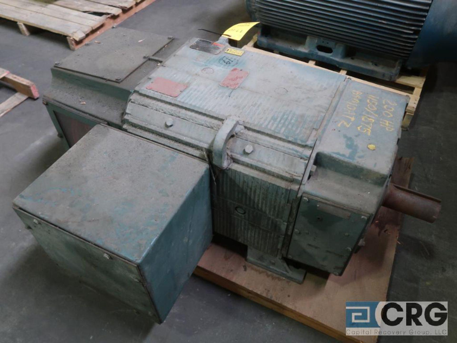 Reliance electric motor, 200 HP, 1,150/1,875 RPMs, 500 volt, B4010ATZ frame (Finish Building)