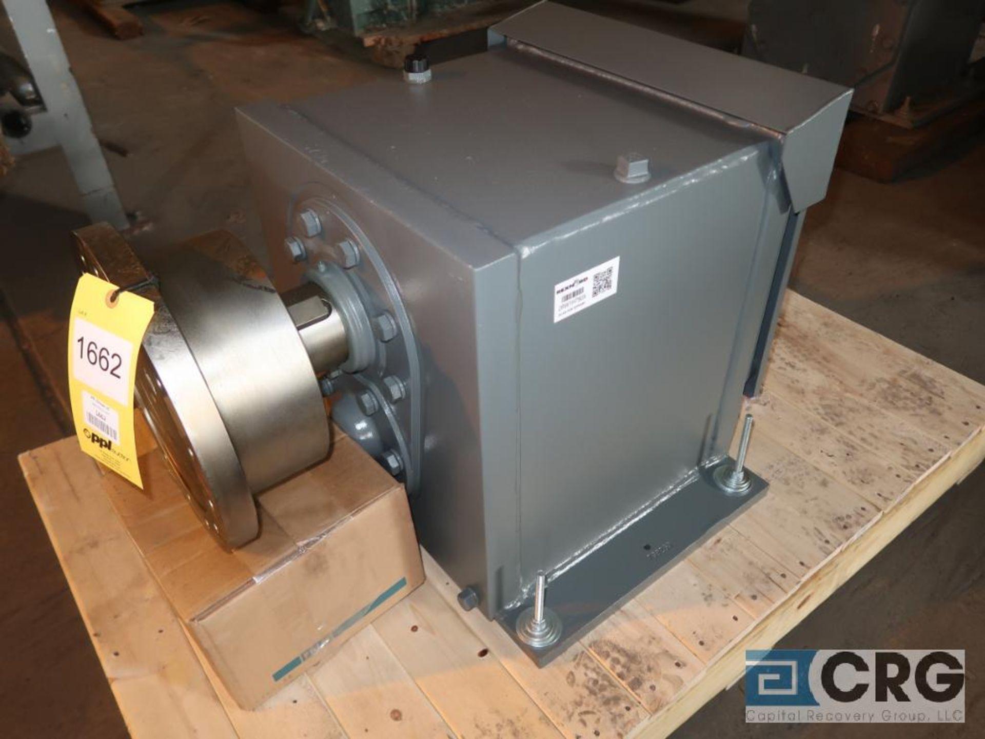 Falk 1080FC2AB gear drive, ratio-7.779, input RPM 1,917, output RPM 246, service rate HP. 100, s/n