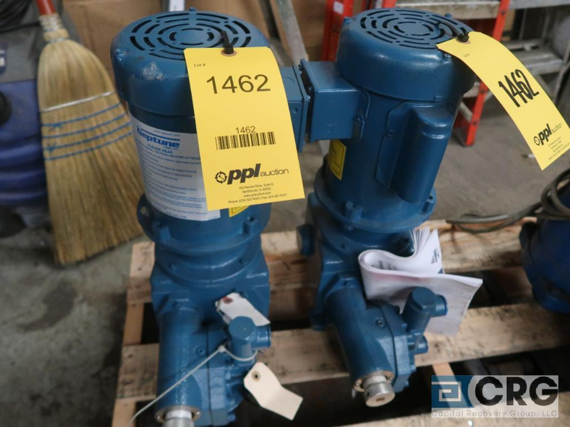 Lot of (2) PSG 500S neptune dial pumps with 1/2 HP (Basement Stores)