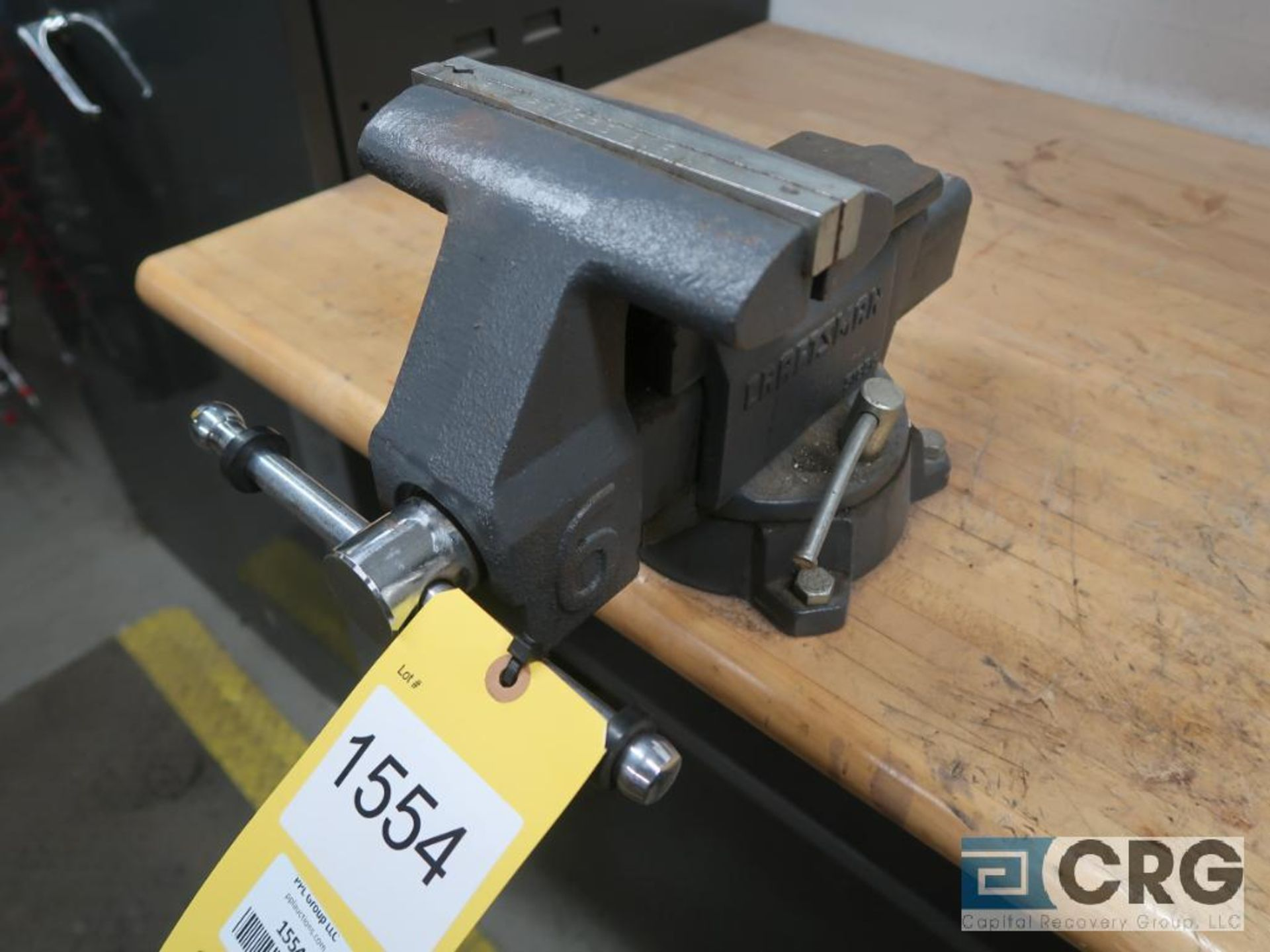 Lot of (3) work benches including (1) 8 ft. x 30 in. with 6 in. vise mounted, (1) 6 ft. 30 in. - Image 5 of 5