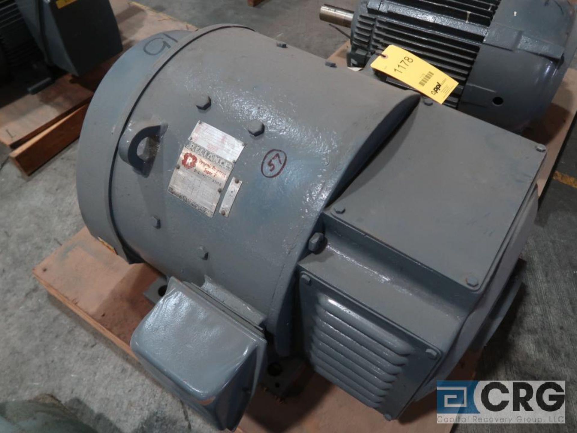 Reliance Dynamic Response Super T DC generator, 75 HP, 1,770 RPMs, 250 volt, 3 ph., 503A-S frame (