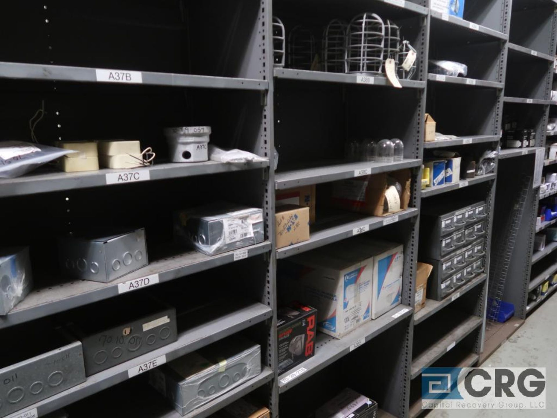 Lot of (15) sections with assorted parts including cable clamps, valves, and light bulbs-CONTENTS - Image 5 of 5