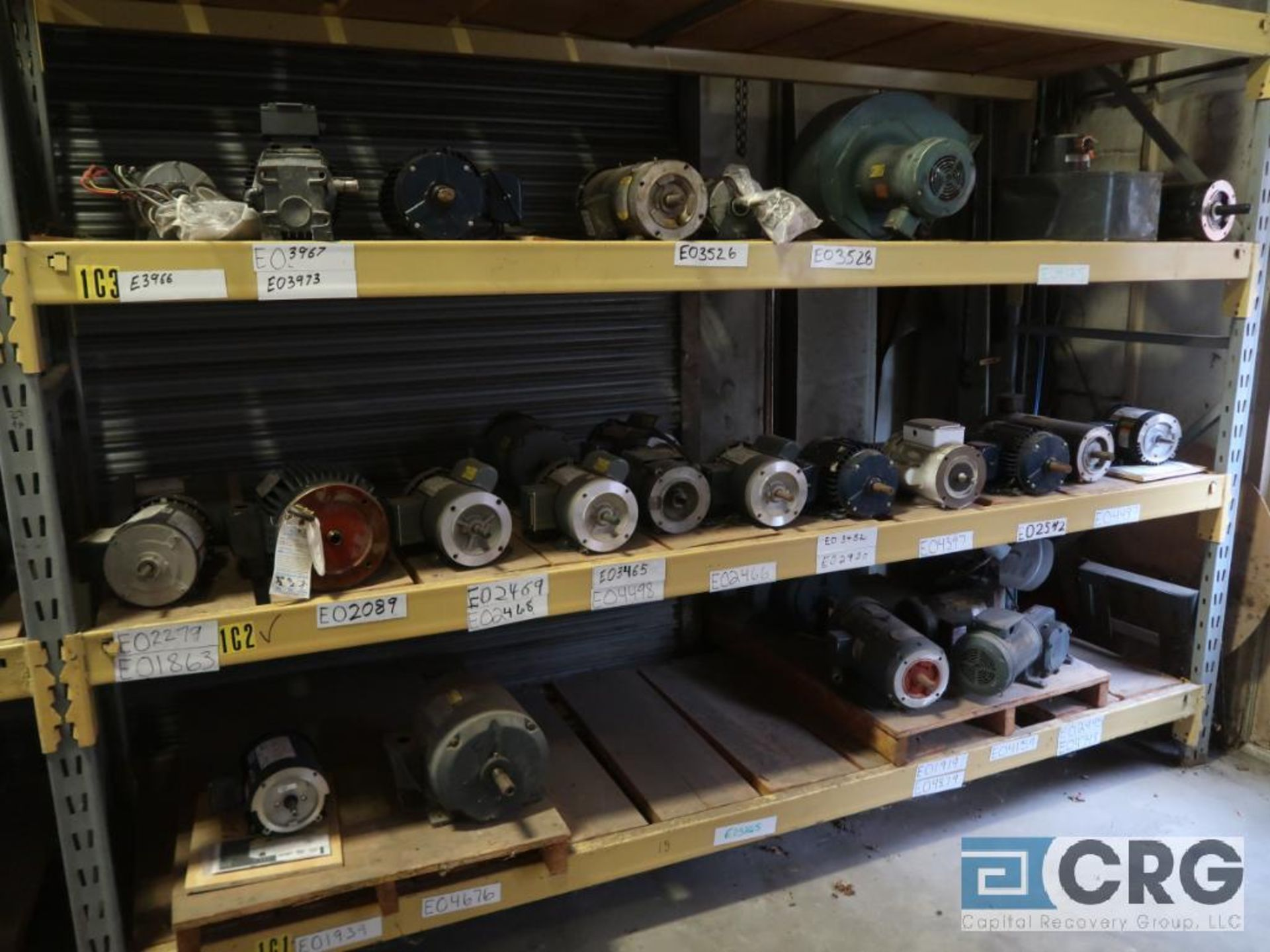 Lot of (116) assorted 5 HP and smaller motors on (9) shelves (Motor Building) - Image 3 of 3