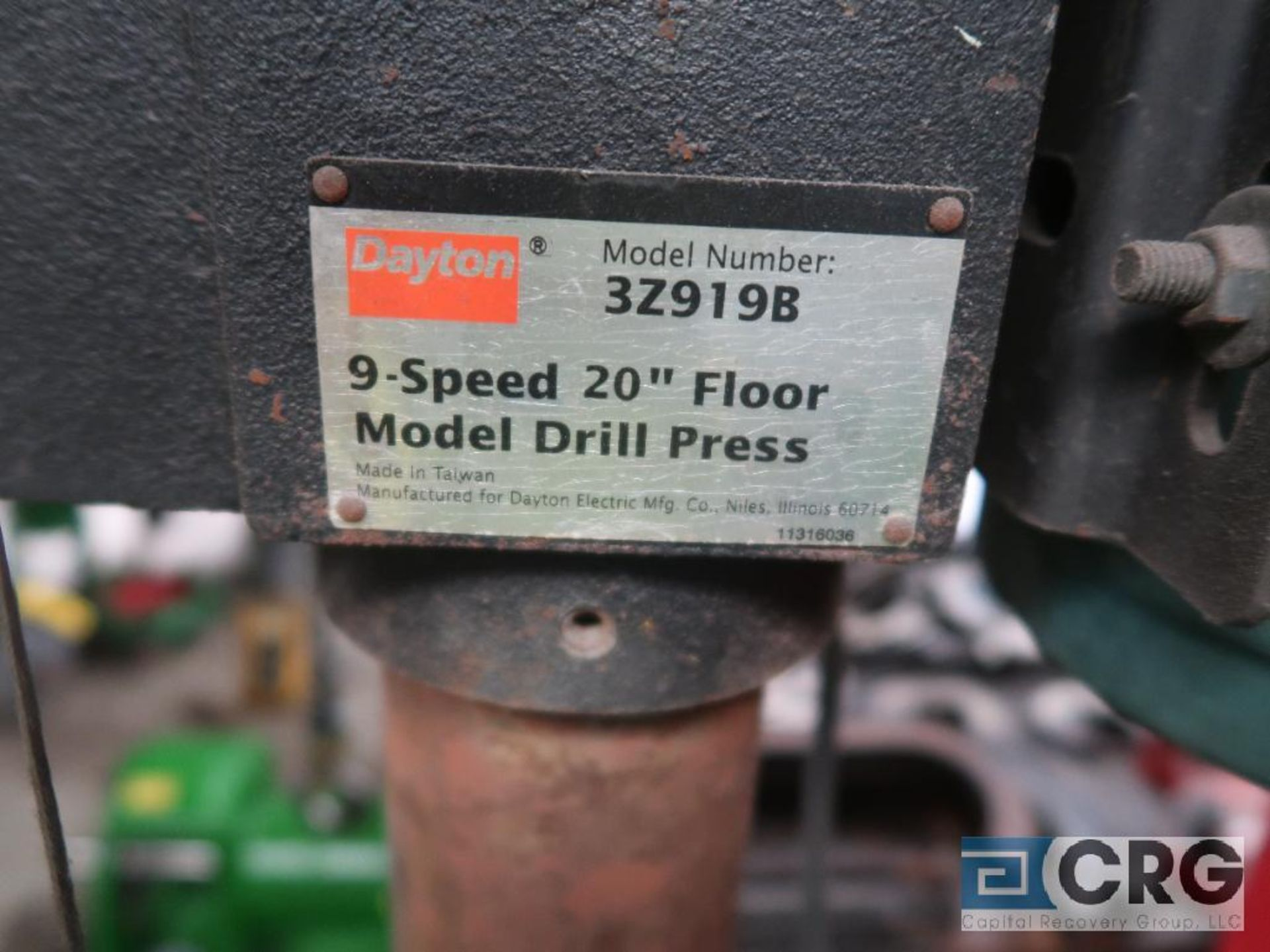 Dayton 20 in. pedestal drill press with vice, 115 volt (Basement Stores) - Image 3 of 3