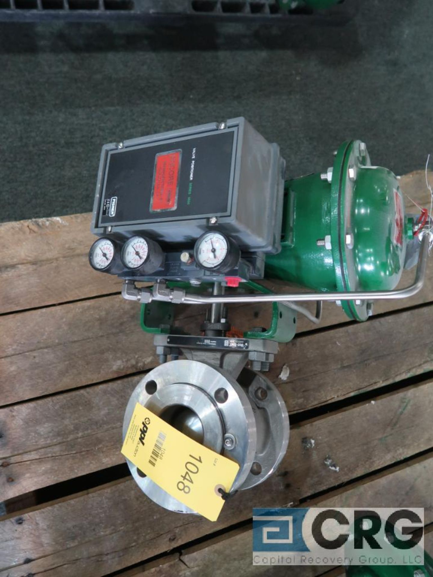Fisher 2052 relief actuator valve, stainless 3 in., rating CL150, s/n FA00046061 (Finish Building)