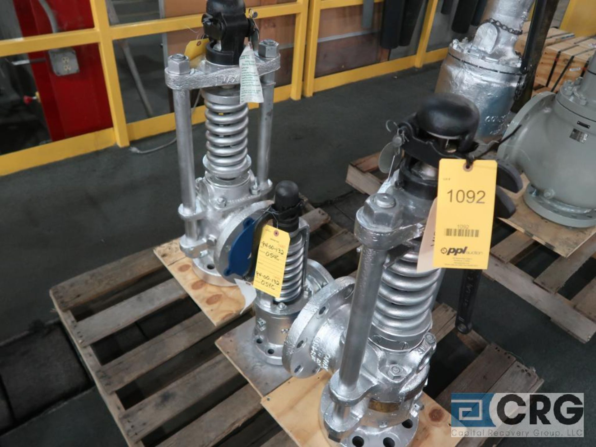 Lot of (3) safety relief valves, (1) 6 in., (1) 3 in., and (1) 2 1/2 in. (Finish Building)