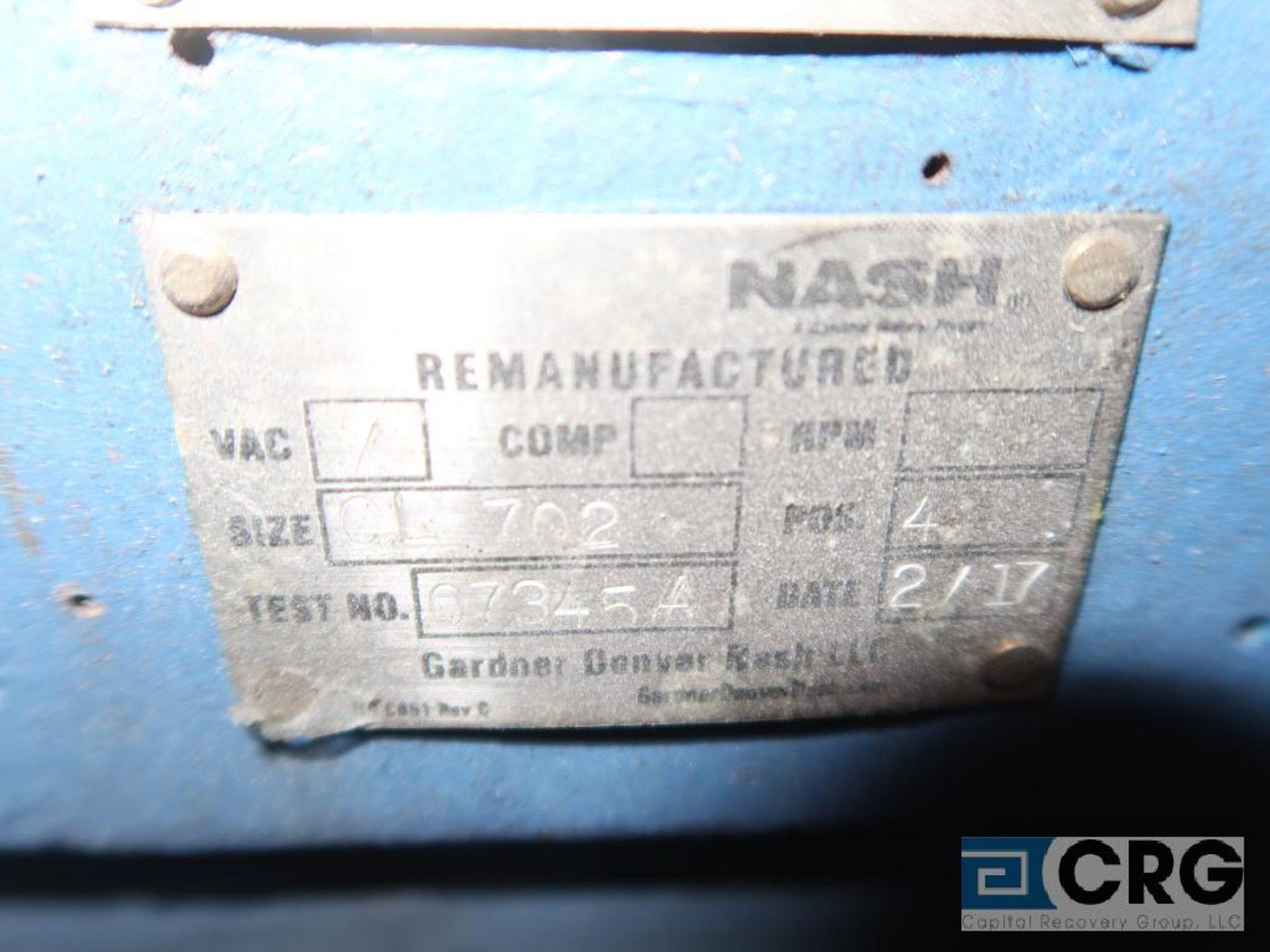 Nash CL 702 vacuum pump, mfg. 2017, s/n 7345 (Off Site Warehouse) - Image 2 of 2