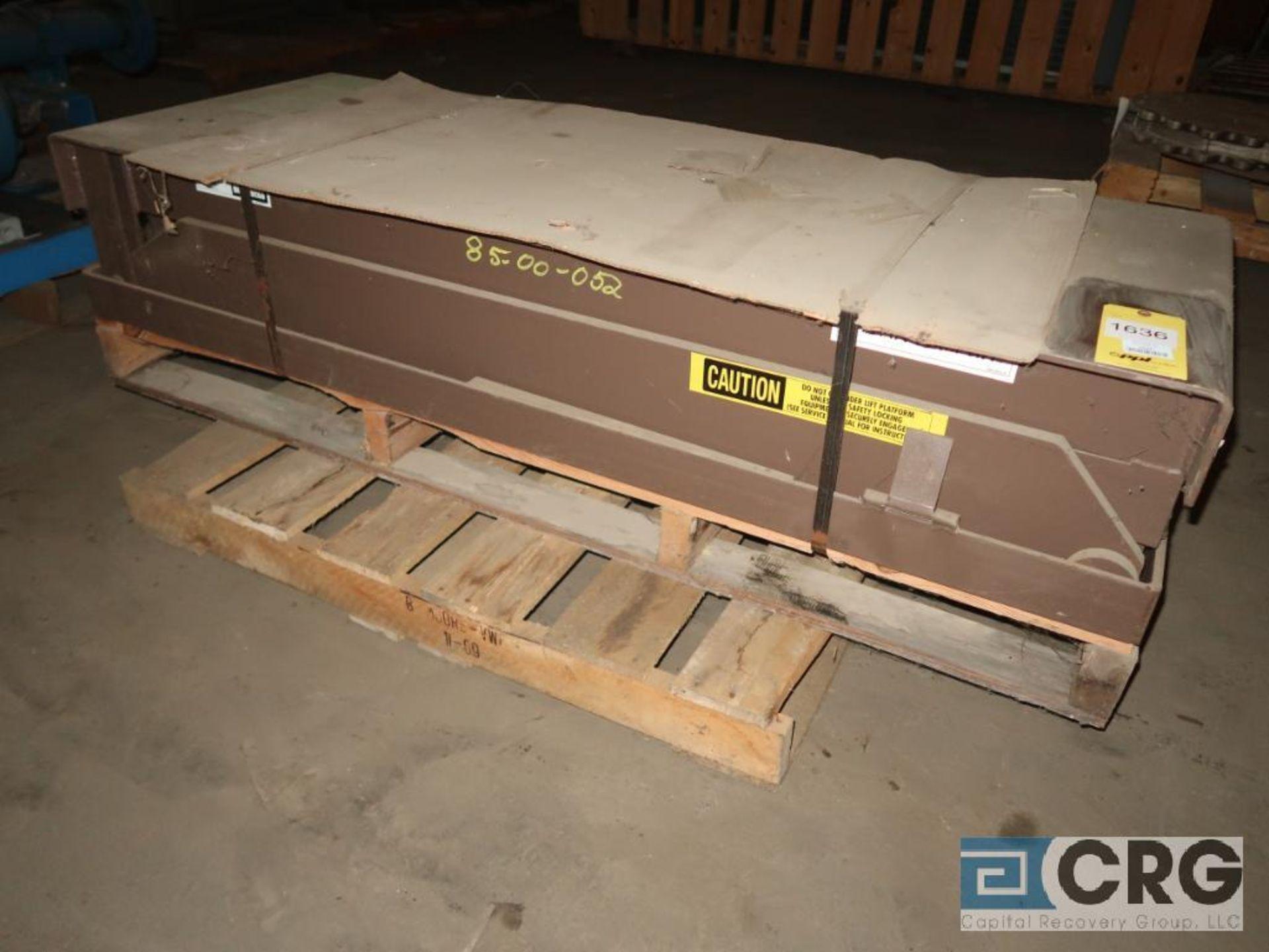 Autoquip GC8FJ hydraulic lift table, 64 in. L x 24 in. W, 8,000 lb. cap., s/n 61187 (Off Site