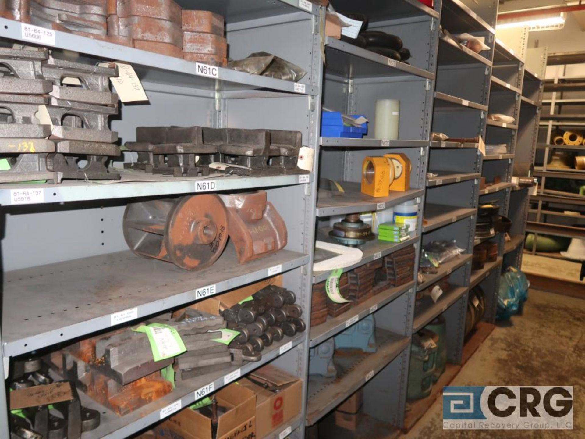 Lot of (35) sections with assorted parts including gaskets, fittings, shaft pins, gears, and - Image 14 of 17