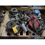 Lot of assorted Durco pump parts on (2) pallets including cassing, impellers, and face plates (