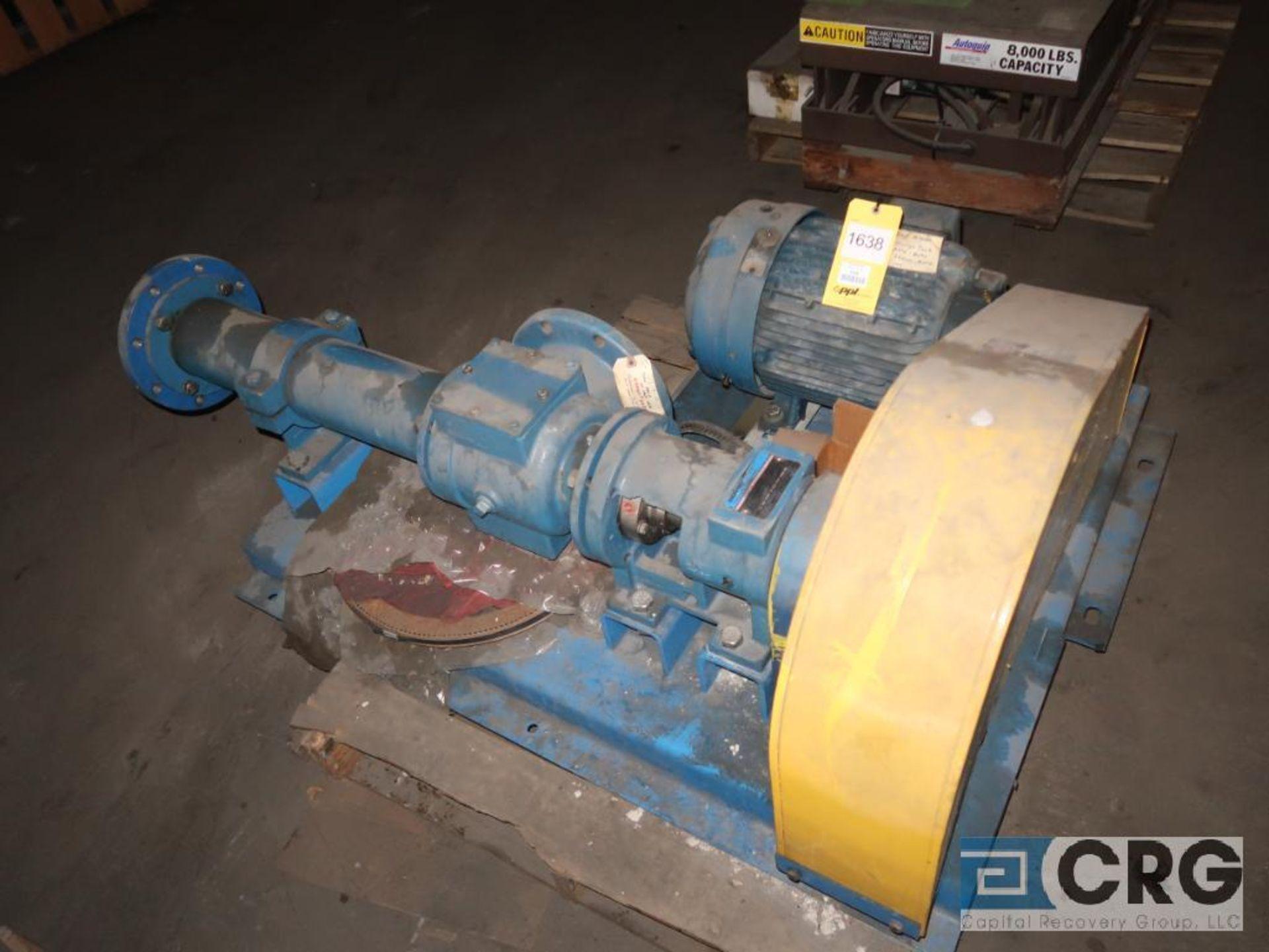 Moyno 2E022G1CDQSAA progressive cavity pump with 7.5 HP motor, s/n AS2424598AH (Off Site Warehouse)