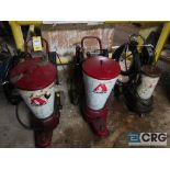 Lot of (3) assorted Alemite grease pots, electric pump (496 Dock Area)