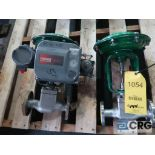 Lot of (2) Fisher relief actuator valves, stainless, (1) 1 in., and (1) 1/2 in. (Finish Building)