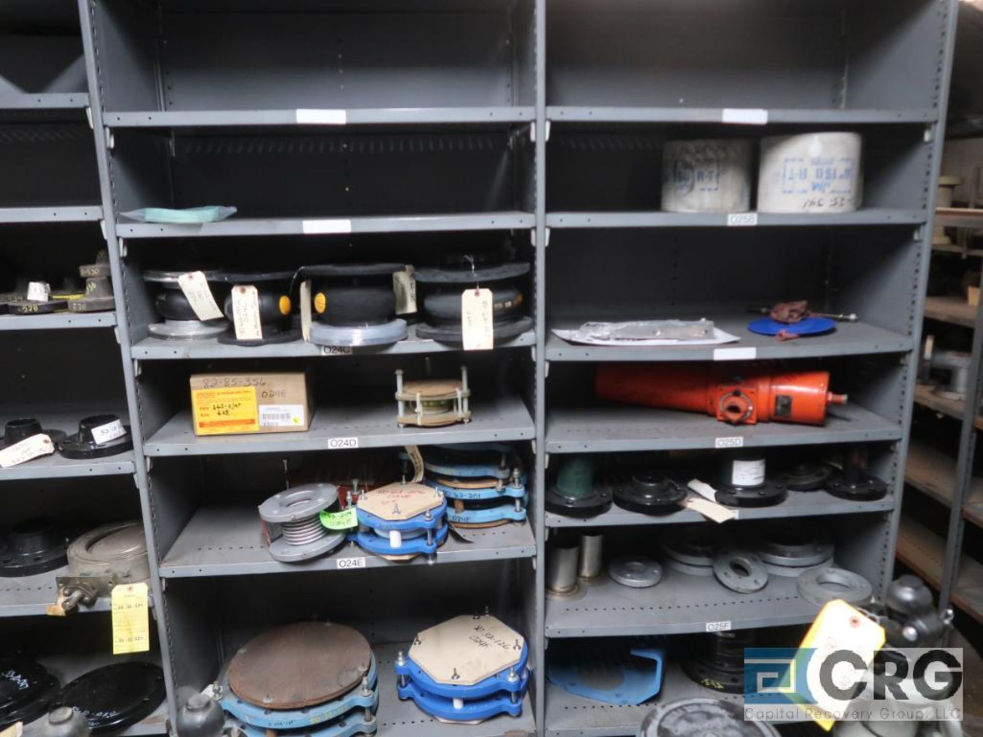 Lot of (30) sections with assorted parts including gears, chain, walves, packing, gaskets, and - Image 9 of 9
