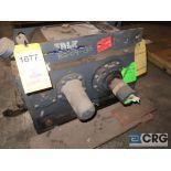 Falk 2050 Y1L gear drive, ratio 5.267, input RPM 1,750, output RPM 332.3, service rate HP. 75, s/n