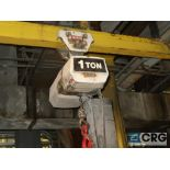 Coffing electric hoist, 1 ton, (hoist only, no rail) (Located Level 481 by WNY storage area)