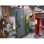 Lot of (3) storage cabinets, (2) 2 door, and (1) single door (Basement Stores)