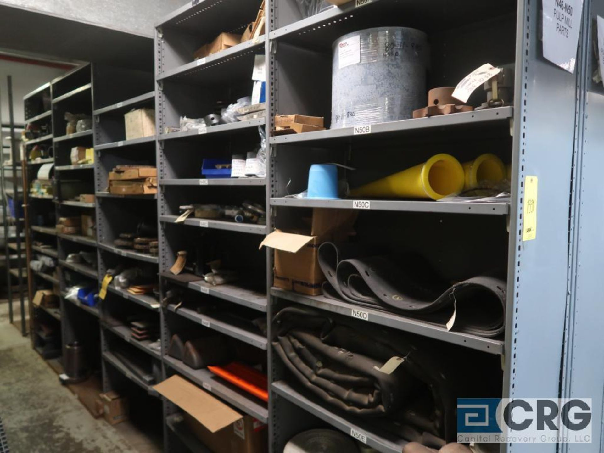 Lot of (35) sections with assorted parts including gaskets, fittings, shaft pins, gears, and - Image 3 of 17