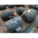 Lot of (4) assorted 40 HP electric motors including (2) U.S. Electrical, (1) Westinghouse, and (1)