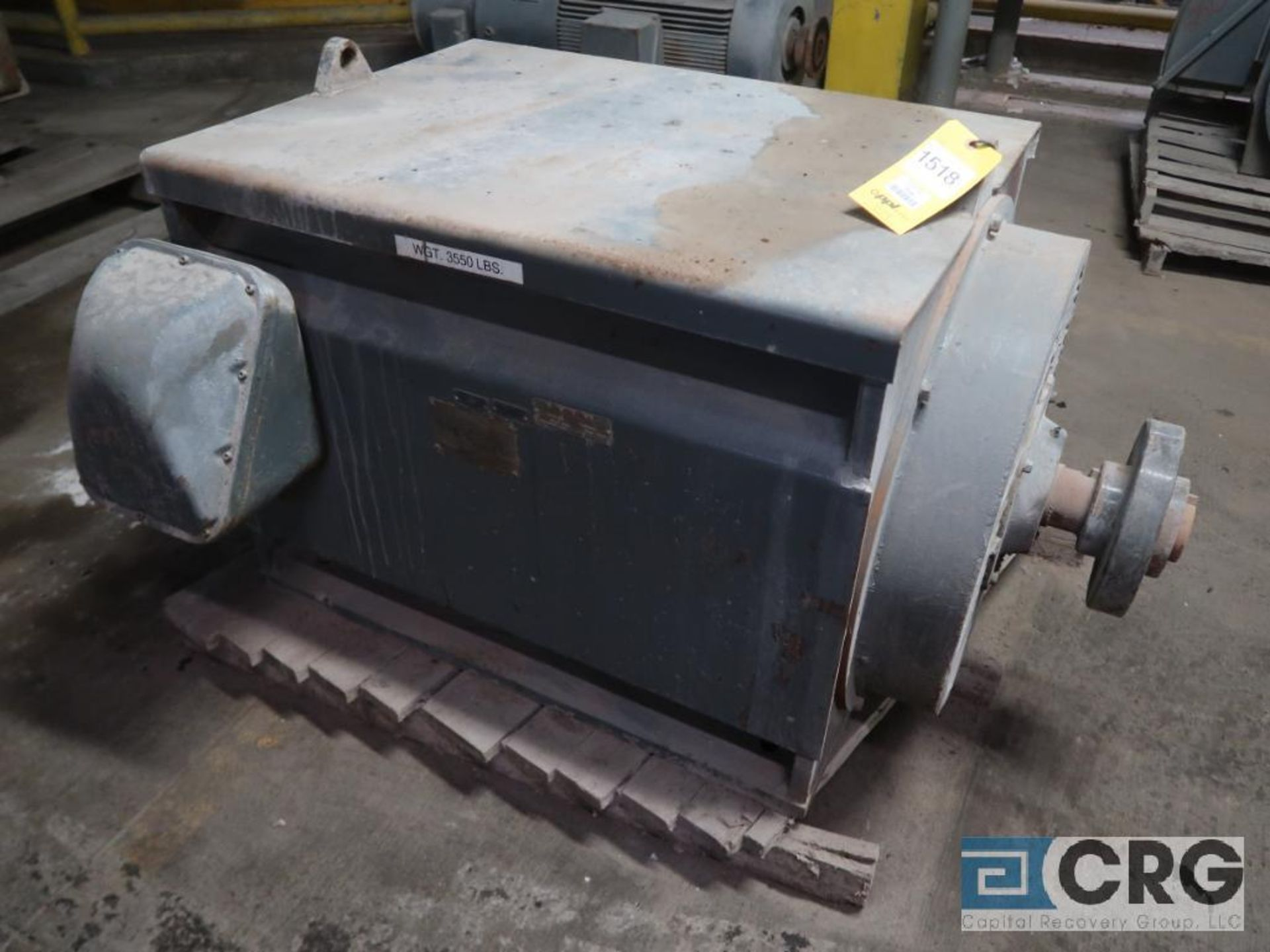 Ideal Electric motor, 350 HP, 1,180 RPM, 2,300 volts, frame 7589, equipment #E04259 (496 Dock Area)