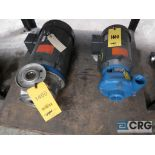Lot of (2) centrifugal pumps including (1) Goulds 1 1/2 x 2 1/2 with 7.5 HP, and (1) Goulds 1 1/2