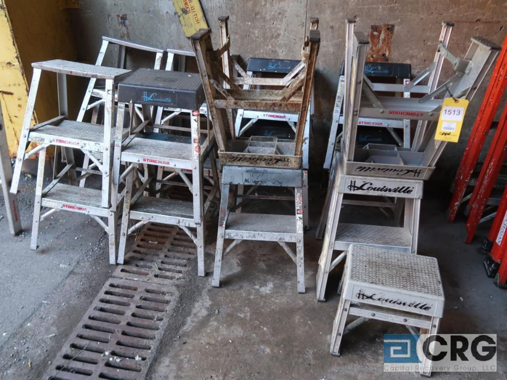 Lot of (15) aluminum step ladders (Stores Area)