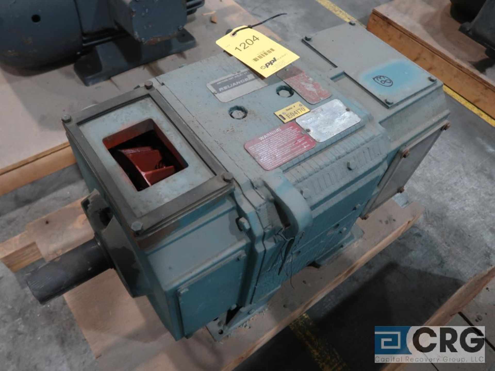 Reliance electric DC motor, 75 HP, 1,750/2,300 RPMs, 240 volt, 3 ph., B0328ATZ frame (Finish