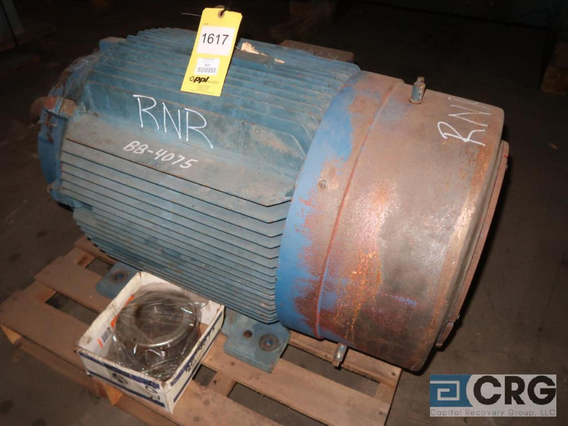 Siemens 125 HP motor, 460 volt, 3 ph., 1,185 RPM, frame 445T (Off Site Warehouse)