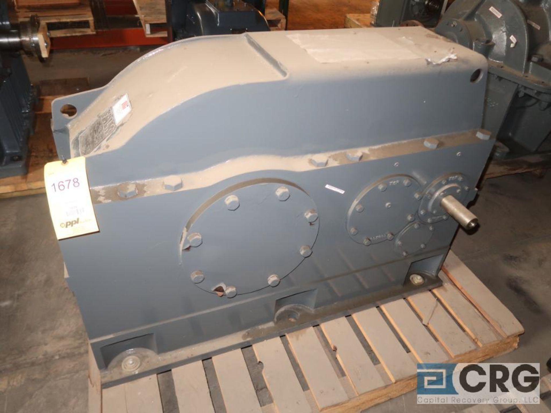 Falk 2110 Y3A gear drive, ratio-54.51, input RPM 839/315, output RPM 15.4/5.8, service rate HP.