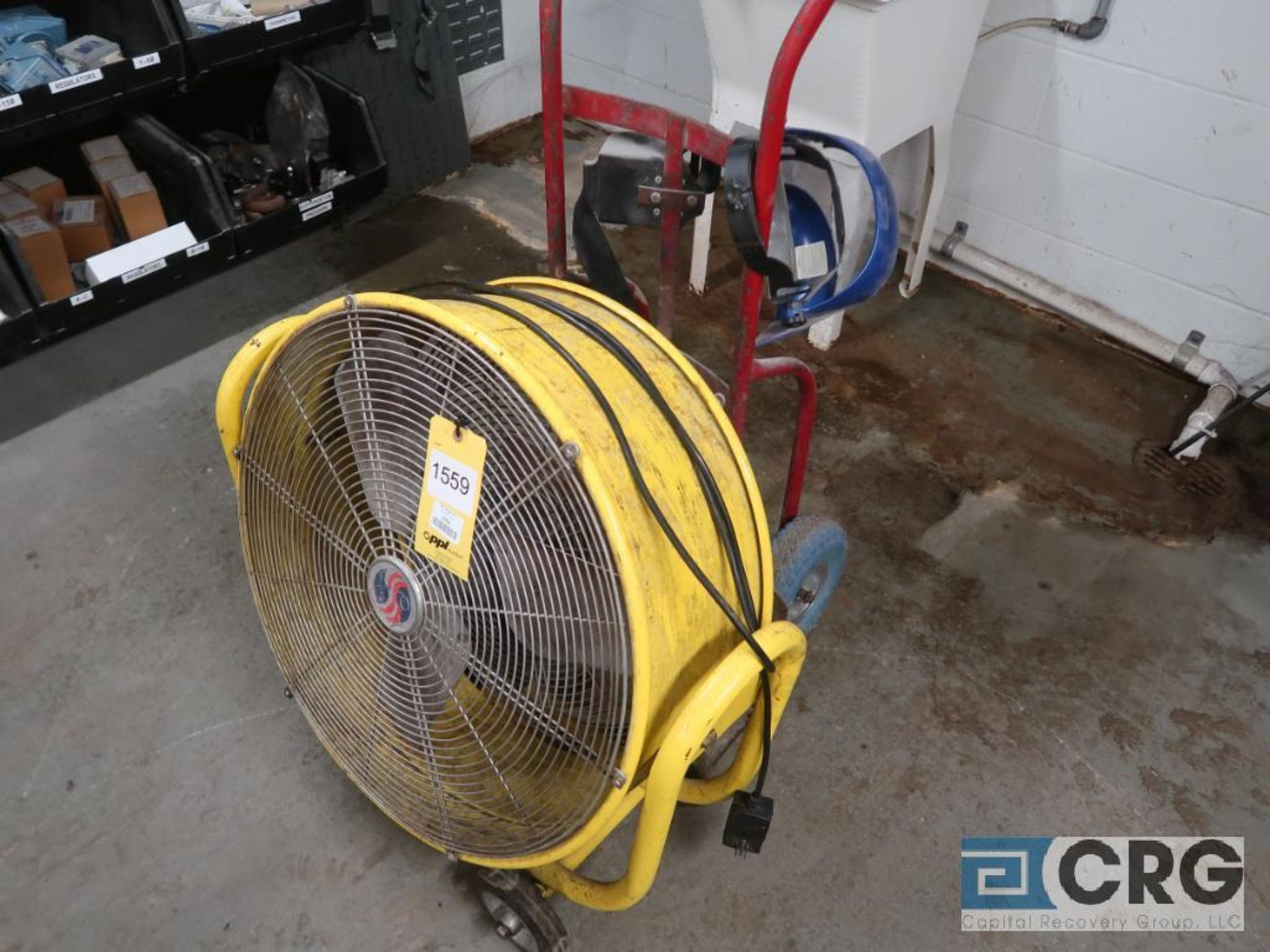 Lot of (2) miscellaneous items including (1) hand truck, and (1) 24 in. fan (Inside Shop-496 Dock