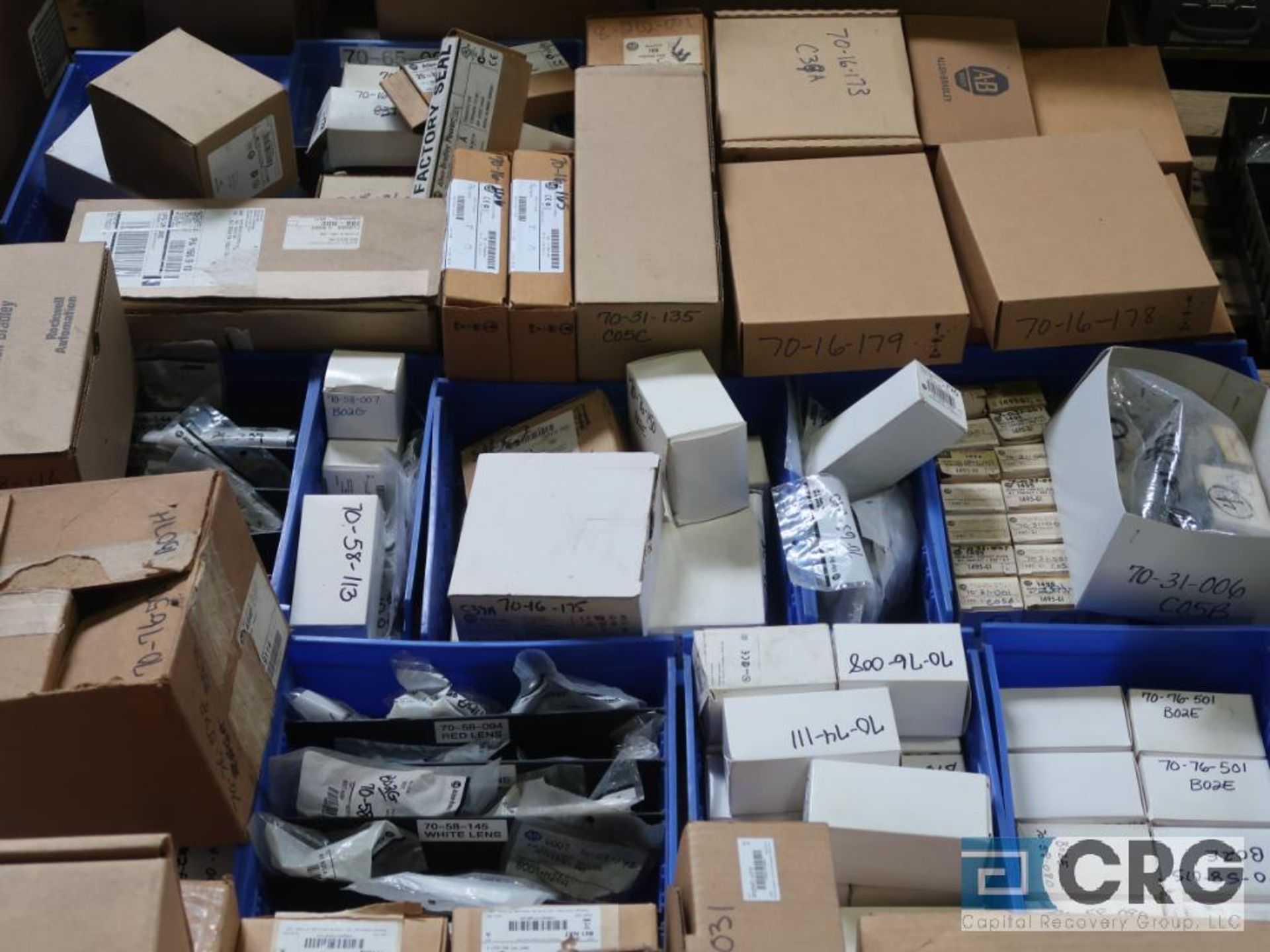 Lot of assorted Allen Bradley electrical automation on (13) pallets including sensors, relays, SLC - Image 7 of 12