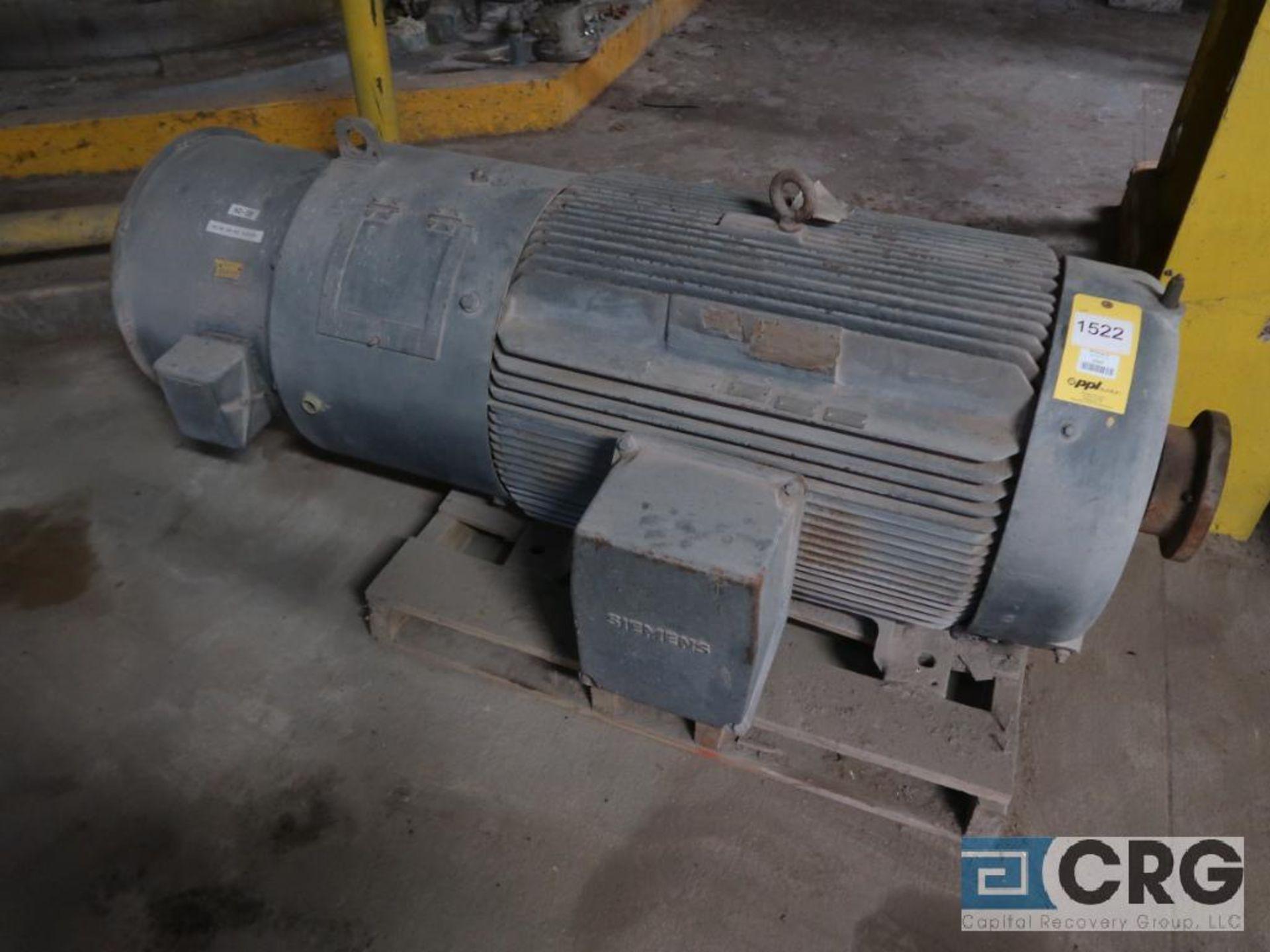 Siemens motor, 250 HP, 1,783 RPM, equipment #E04787 (496 Dock Area)