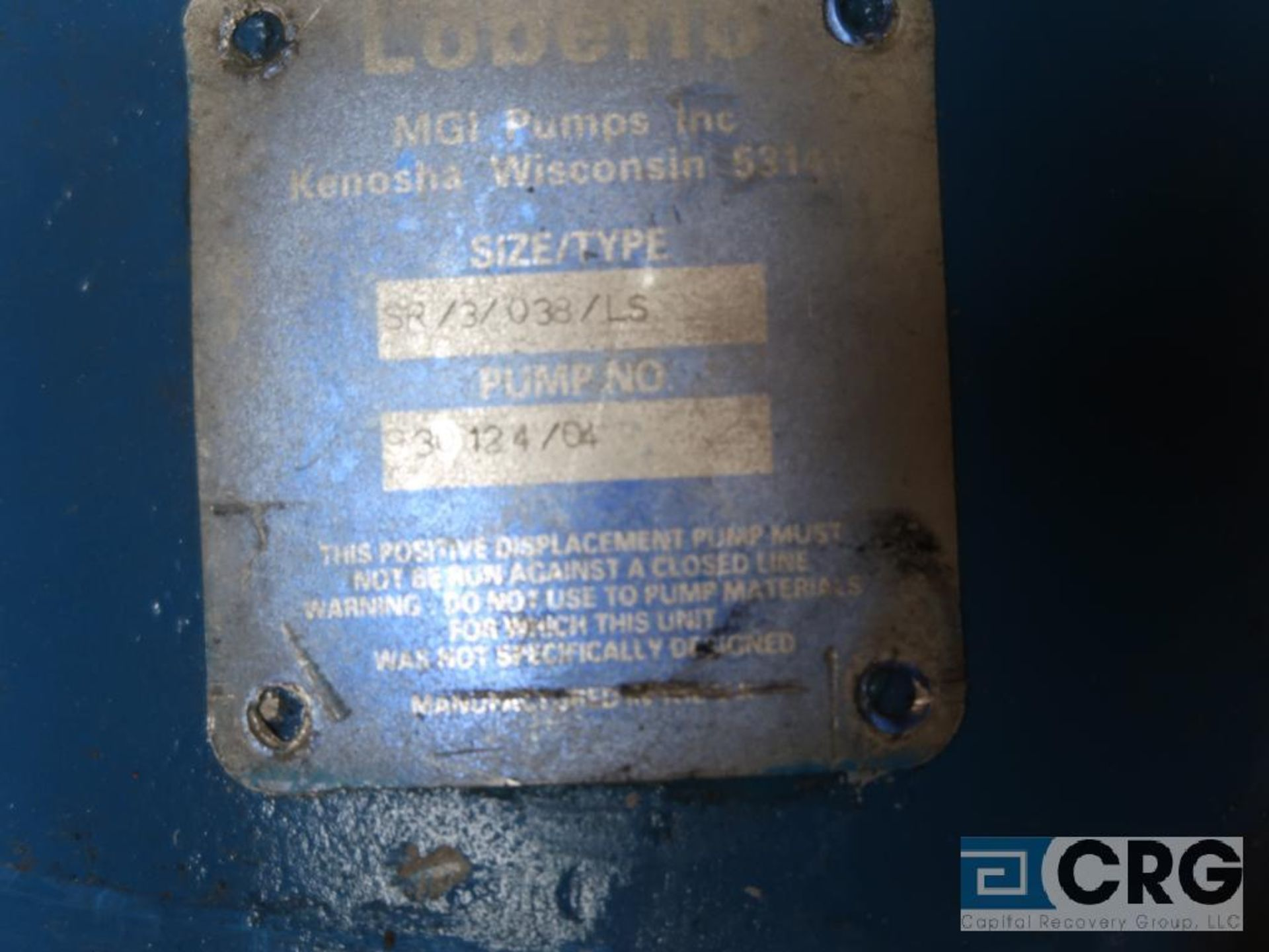 Waukesha 2 1/2 in. stainless positive displacement pump (Next Bay Cage Area) - Image 2 of 2