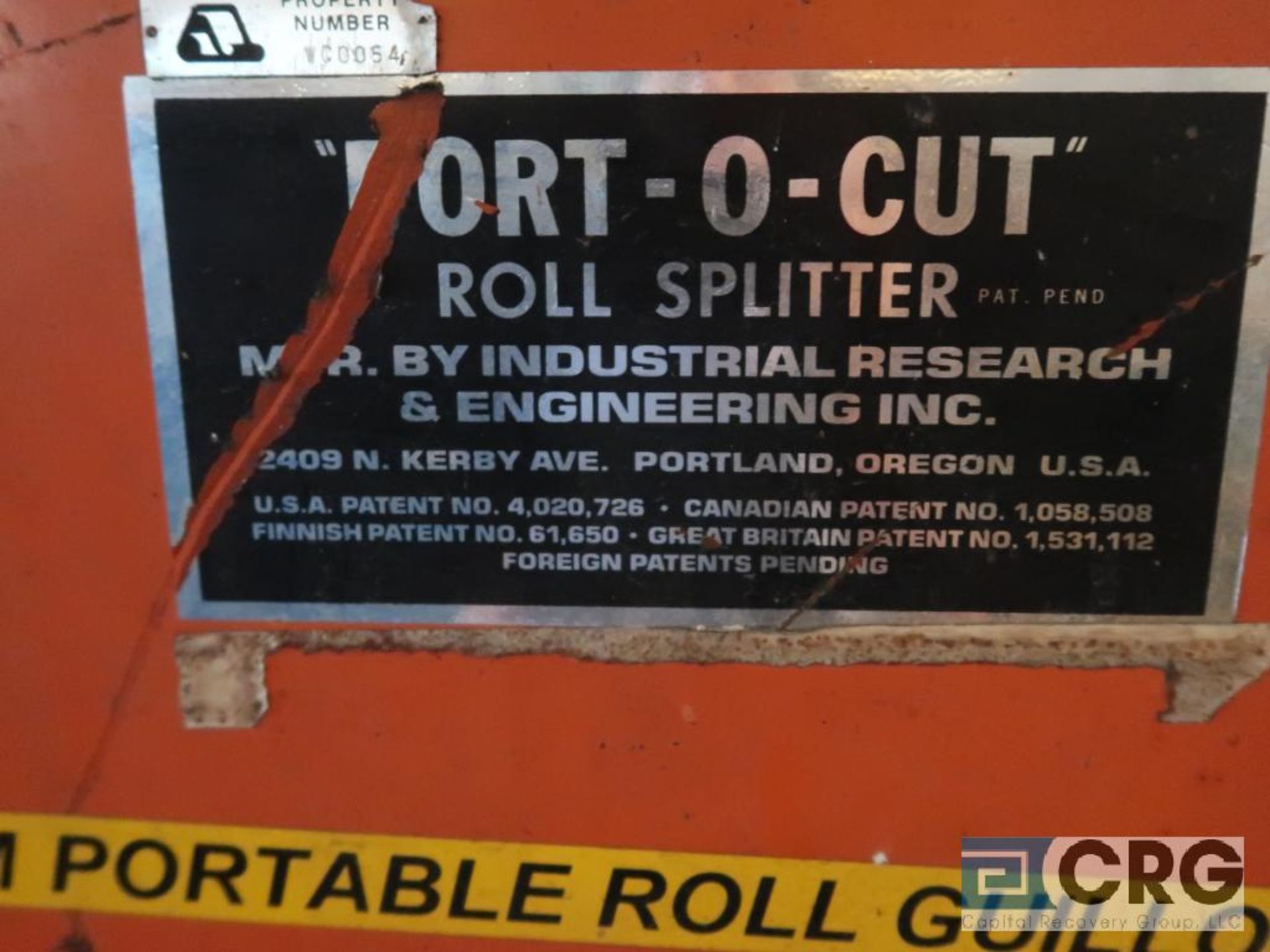 IRE Port O Cut roll guillotine, 36 in. blade, s/n 85562 (Off Site Warehouse) - Image 2 of 3