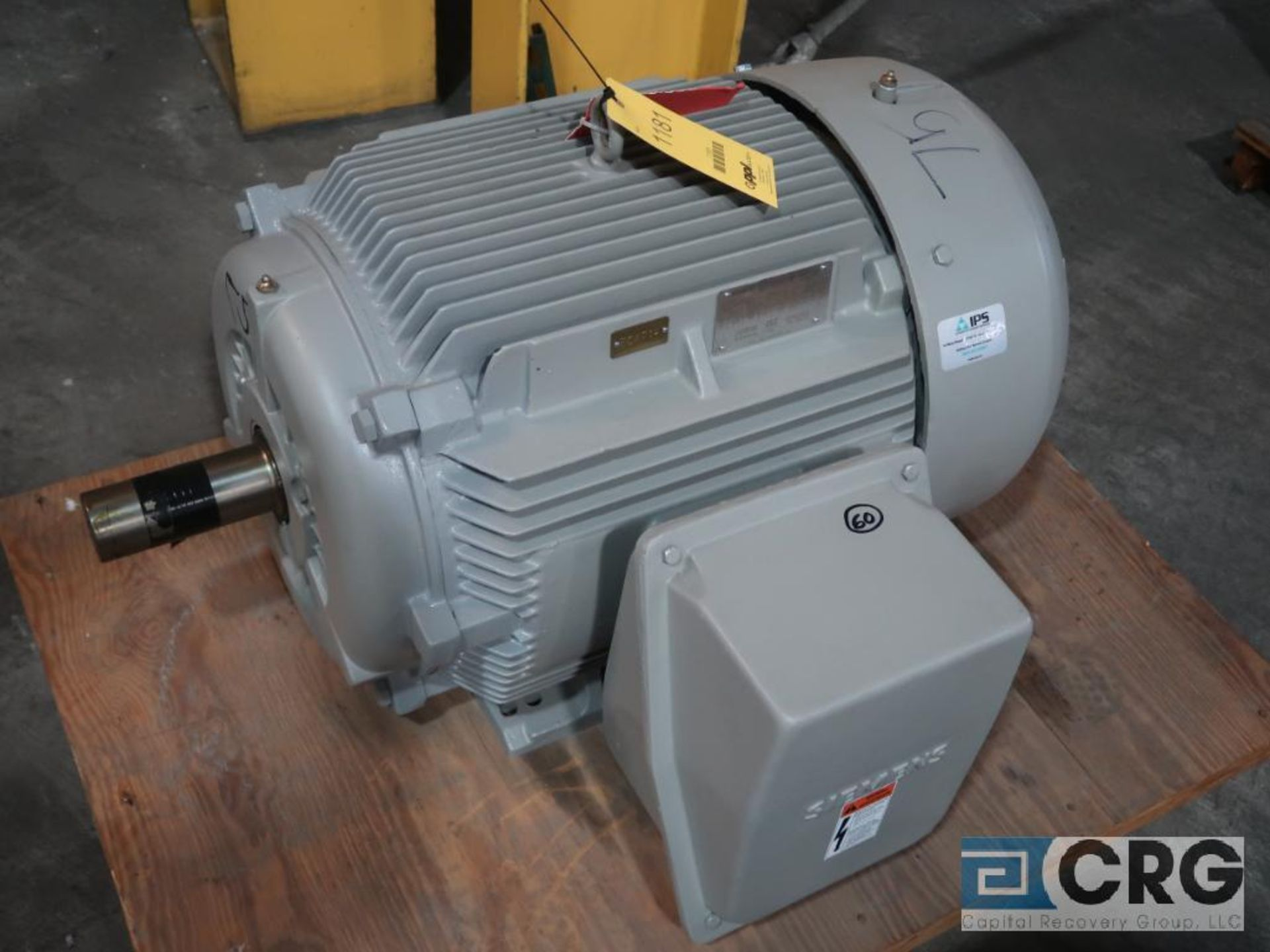 Siemens NEMA Premium motor, 75 HP, 1,780 RPMs, 460 volt, 3 ph., 365T frame (Finish Building)