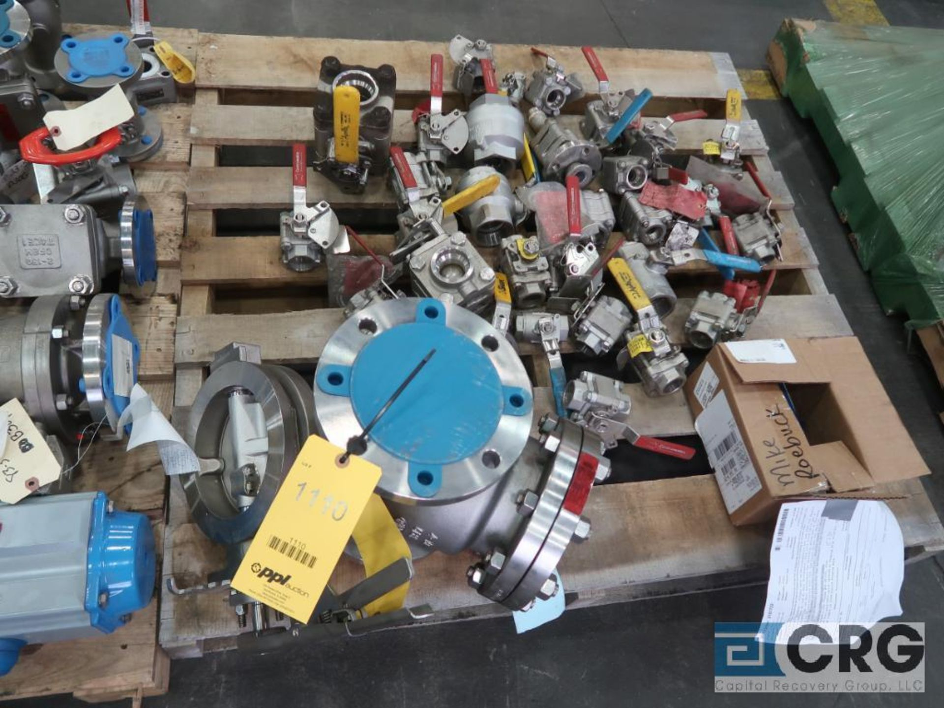 Lot of (16) assorted stainless ball valves (Finish Building)