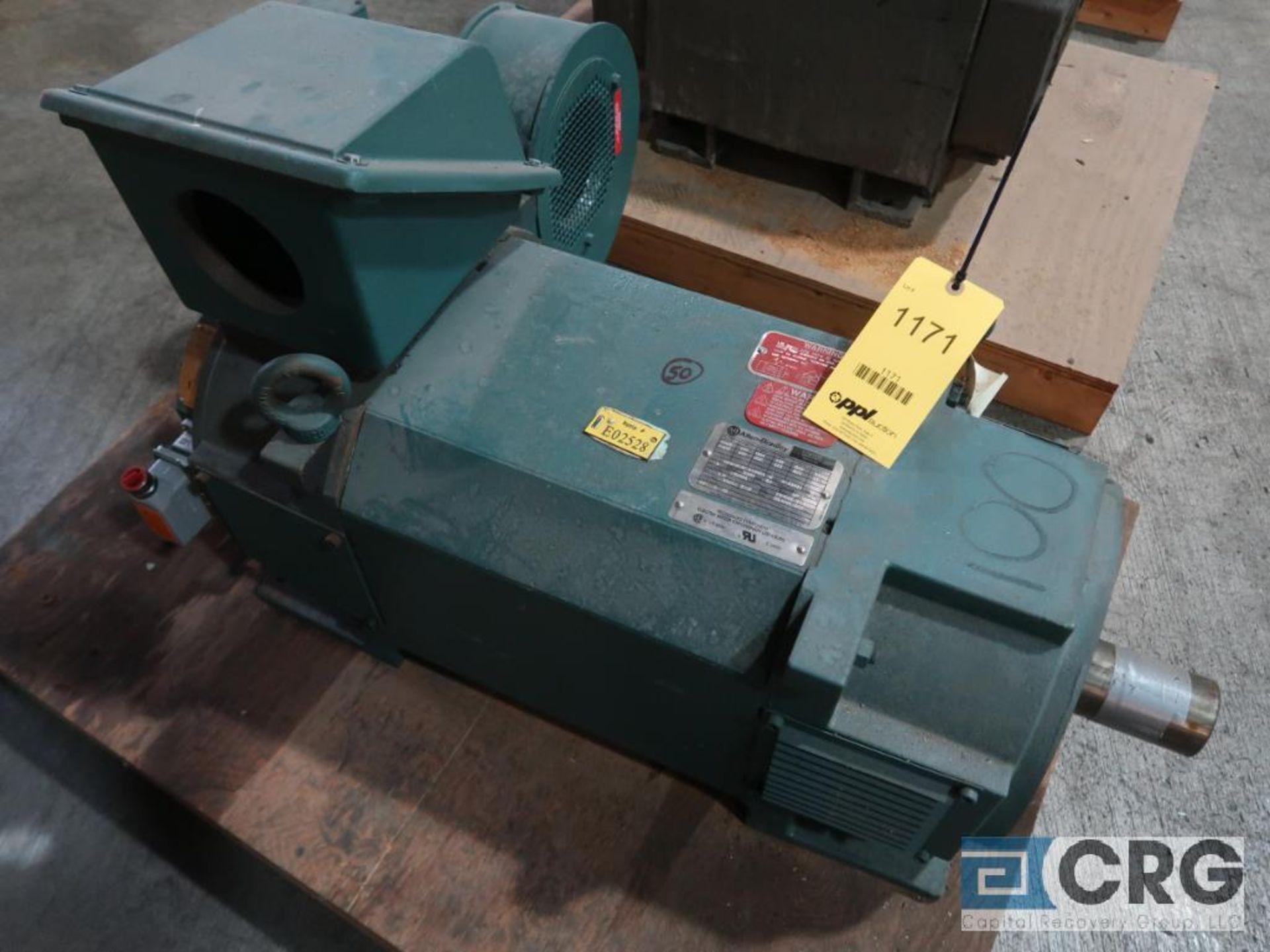 Allen Bradley Control Matched motor, 100 HP, 955 RPMs, 460 volt, 3 ph., RL2898Z frame (Finish