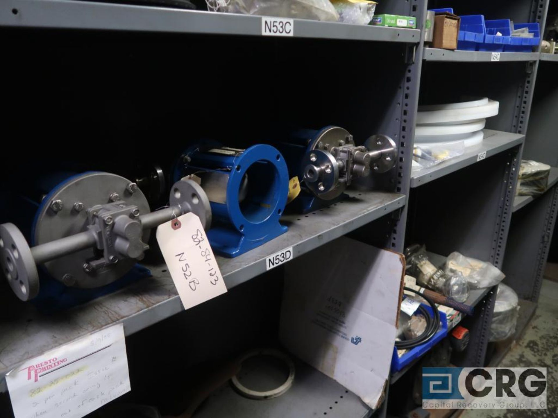 Lot of (35) sections with assorted parts including gaskets, fittings, shaft pins, gears, and - Image 10 of 17