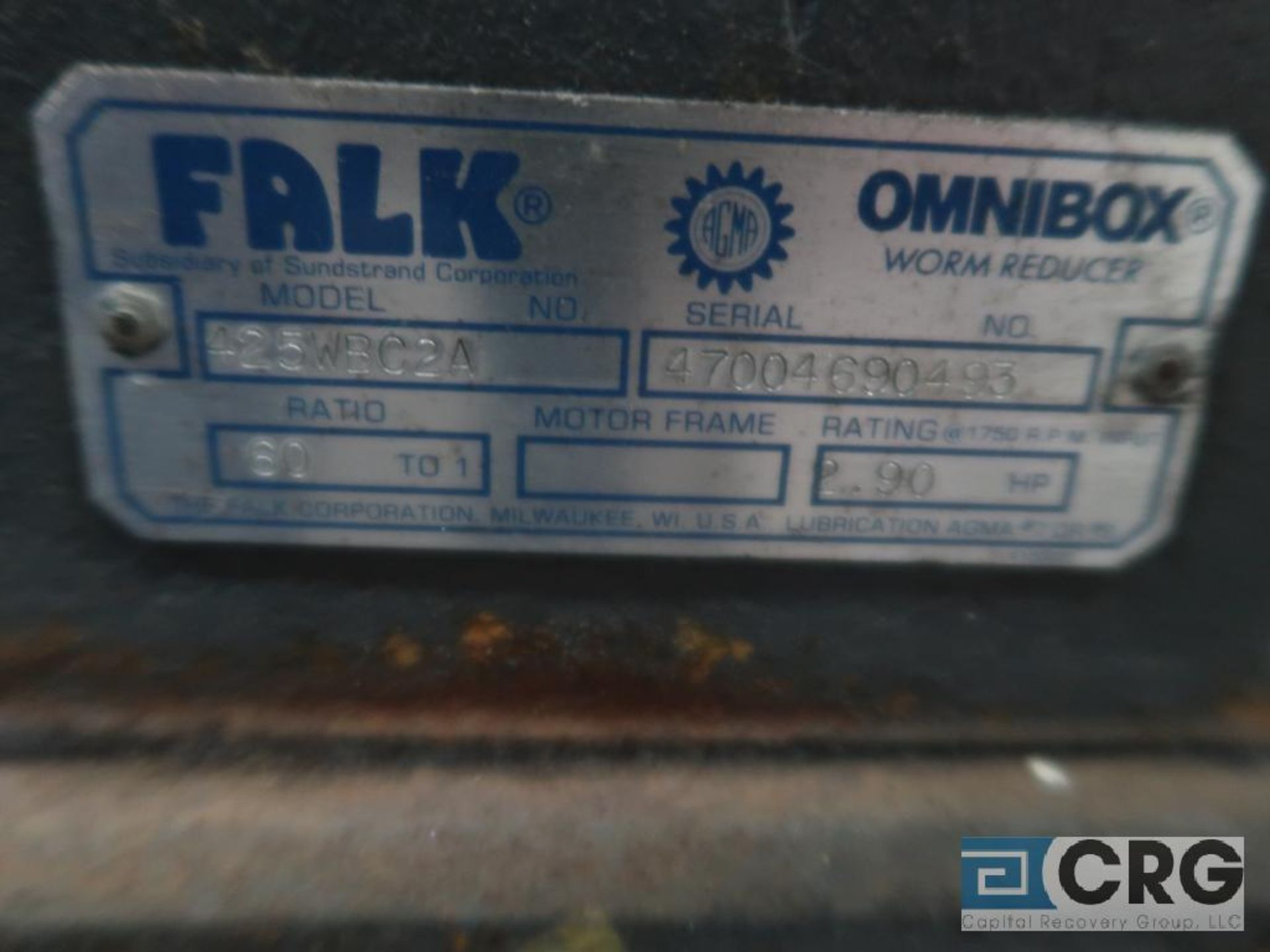 Falk 425WB2A gear drive, ratio 60-1, s/n 90493 (Finish Building) - Image 2 of 2
